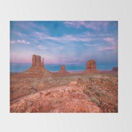 Westward Dreams - Sunset in Monument Valley Throw Blanket