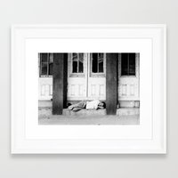 drunk Framed Art Prints featuring Drunk by Sidney Phillips
