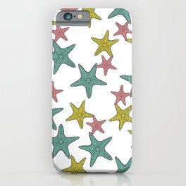starfish tropical print iPhone Case