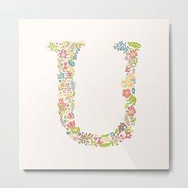 Alphabet U Metal Print