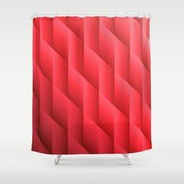 Gradient Red Diamonds Geometric Shapes Shower Curtain