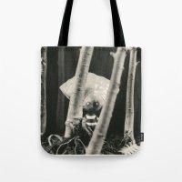 tim burton Tote Bags featuring Oyster Boy - tim burton by PaperTigress