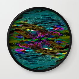 Evening Pond Rhapsody - Digital painting Wall Clock