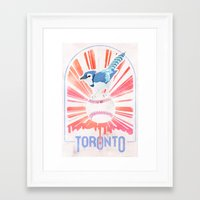toronto Framed Art Prints featuring Toronto by Sweep