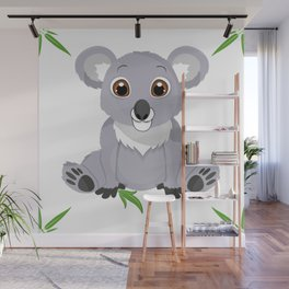 Cute Little Koala Bear Wall Mural