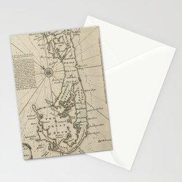 Vintage Map of Bermuda (1752) Stationery Cards