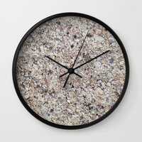 shells Wall Clocks featuring Shells by Rikku Starr
