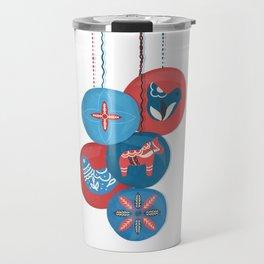 Christmas Baubles (Scandi) Travel Mug