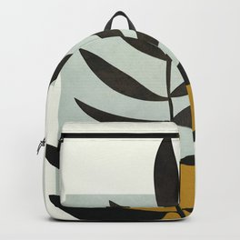 Soft Abstract Large Leaf Backpack