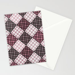 Patchwork, plaid 2 Stationery Cards