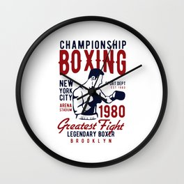 lengendary boxing Wall Clock