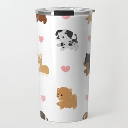 Dog Breeds with Hearts Travel Mug