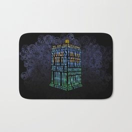 Tardis Doctor who Typography iPhone, ipod, ipad, pillow case and tshirt Bath Mat