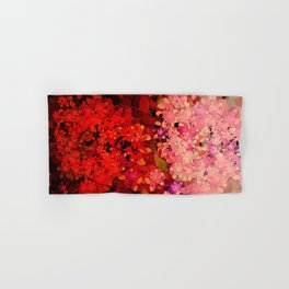 Two Different Worlds -- Floral Pattern Hand & Bath Towel