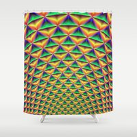 fibonacci Shower Curtains featuring Pineapple Chunk by Objowl