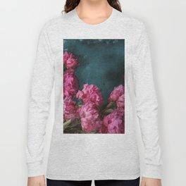 Peony Romance Teal Long Sleeve T-shirt