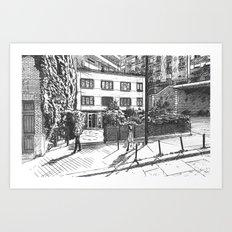 26, rue de Crimée, Paris Art Print