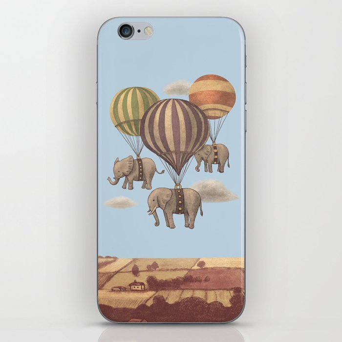 Flight of the Elephants - colour option iPhone Skin