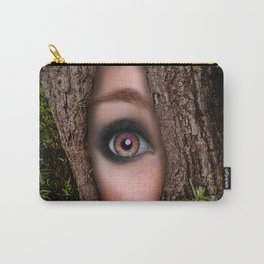 Beautiful Face trapped in a tree trunk Carry-All Pouch