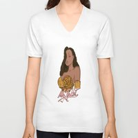 "lebron V-neck T-shirts featuring ""Ms. Rabbit""  by SaintCastro"