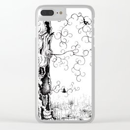 Hangin' Loose & Swingin' on Life Clear iPhone Case