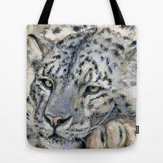 Snow Leopard Resting 778 Tote Bag