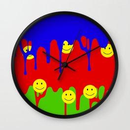 Acid Drip Wall Clock