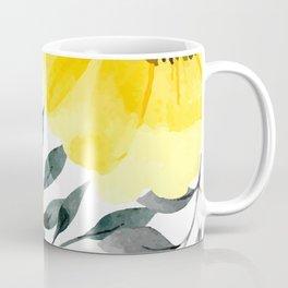 Big yellow watercolor flowers Coffee Mug