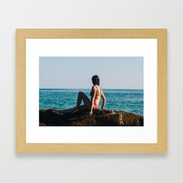 Pink and Blue Framed Art Print