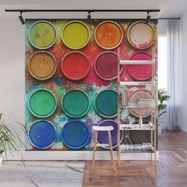 Paintbox Color Palette Wall Mural