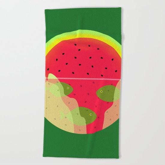 Watermelon Underwater Scene Beach Towel