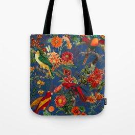 Vintage & Shabby Chic - Night Tropical Bird Garden Tote Bag