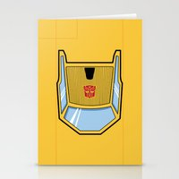 transformers Stationery Cards featuring Transformers - Sunstreaker by CaptainLaserBeam