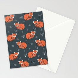 Red Panda Pattern Stationery Cards