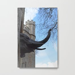 Tower Elephant Metal Print