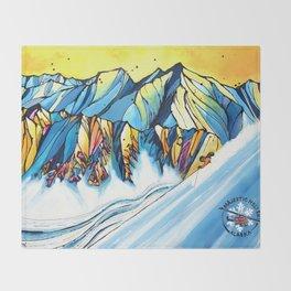 Majestic Heli Ski 2017 Throw Blanket