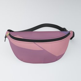 Berry Geo Cocktail - Mid Century Modern Abstract Shapes Fanny Pack
