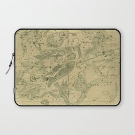 Antique Celestial Map June May April Laptop Sleeve