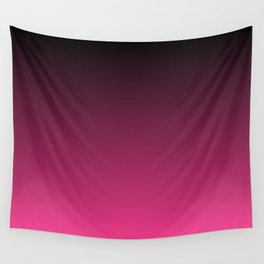 Black To The Fuchsia Wall Tapestry