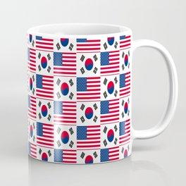 Mix of flag: USA and South Korea Coffee Mug
