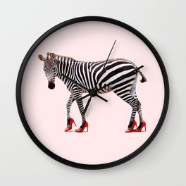 HIGH HEEL ZEBRA Wall Clock