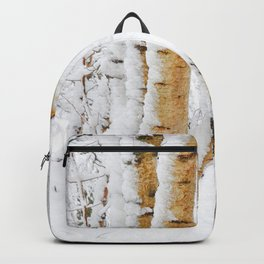 Snow Covered Birch Trees Backpack