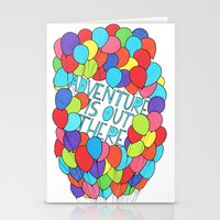 adventure is out there Stationery Cards featuring Adventure by Prince Arora