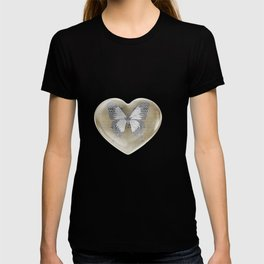 Gold and Silver Leaf Bridget Riley Inspired Pattern T-shirt
