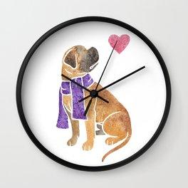 Watercolour Bullmastiff Wall Clock
