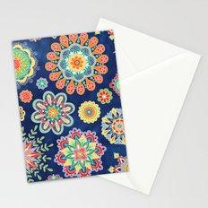 Folky Flora-blue Stationery Cards