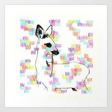 Little Bambi Art Print