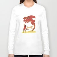 how to train your dragon Long Sleeve T-shirts featuring How to Train your Smaug! by Loku