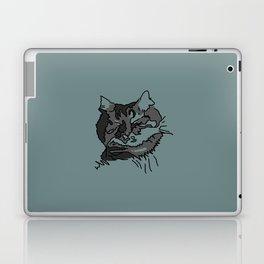 Turquoise Sleeping Cat Laptop & iPad Skin