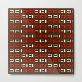 Pattern simple mazes Metal Print